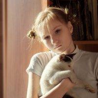 Портрет с котом :: Вера Сафонова