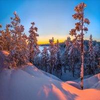 Зимний закат на озере Пестово. :: Фёдор. Лашков