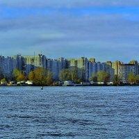 Санкт-Петербург, река Малая Нева. Новые дома на Васильевском острове. :: Владимир Ильич Батарин