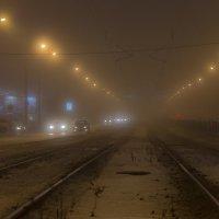 Туман  в городе :: Людмила Волдыкова