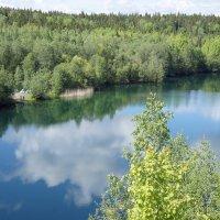 Палаточный лагерь на одном из мраморных озер :: Елена Павлова (Смолова)