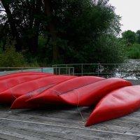 Парк в районе Вильгельмсбург (серия). Красные лодки :: Nina Yudicheva