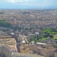 Вид  на  Рим с  собора  Св  . Петра. :: Виталий Селиванов