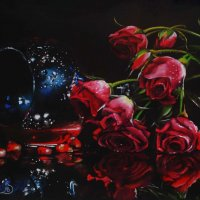 """""""В аромате твоем есть дыхание роз."""" (Картина написана пастелью). :: Лара Гамильтон"""