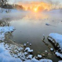Морозный закат февраля... :: Андрей Войцехов