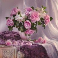 Прекрасных роз нежнейший аромат... :: Валентина Колова