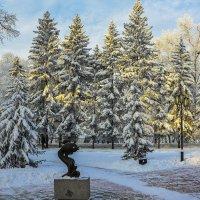 Закат в парке :: юрий Амосов