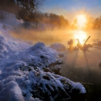 Закатное сияние февраля.. :: Андрей Войцехов