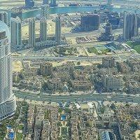 Взгляд на Дубай со смотровой площадки Бурдж-Халифа (через стекло, в ясный день).. :: Elena Izotova