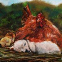 Материнство. (Картина написана пастельными мелками). :: Лара Гамильтон