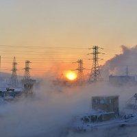 Закат на замороженной земле... :: Витас Бенета