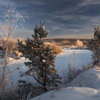 Зимний утренний пейзаж... :: Александр Попов