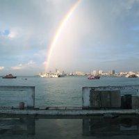 Радуга в порту Паттая :: Евгений Мергалиев