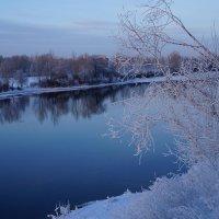 Искусные кружева зимы в отблесках вечерней зари :: Екатерина Торганская