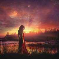 #Red_sunset (Красный закат) :: Геннадий Милованкин (MGDart)