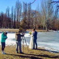 Фотосессия зимней свадьбы :: Юрий Яловенко