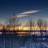 Февральский закат :: Владимир Буравкин