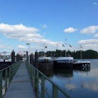 Когда облака купаются в реке :: Nina Yudicheva
