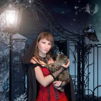 Ночь, девушка, фонарь... )) :: Райская птица Бородина