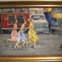 """""""Бегом через улицу"""". Ю. Пименов.1963 г. :: Маера Урусова"""