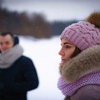 Портрет в зимнем парке :: Юрий Захаров