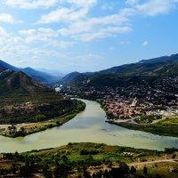 Слияние рек Арагвы и Куры :: Anna