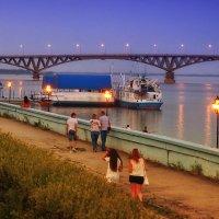 Тёплый вечер на Волге. :: Андрей Козлов