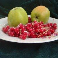 Зелёные яблоки и красная смородина :: Нина Корешкова