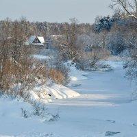 Речка под снегом. :: Алексей Соловьев