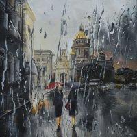 В Санкт-Петербурге первый весенний дождь. (Картина написана маслом). :: Лара Гамильтон