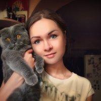 Девушка с котом :: SergeiSV Лебедев