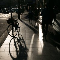 Тень велосипедиста :: Наталья Краснюк