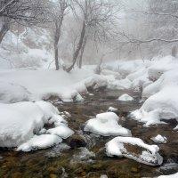 горная река в снегу :: Горный турист Иван Иванов