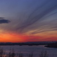 Город на закате :: Сергей Щербинин