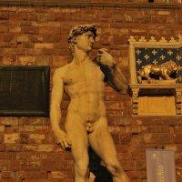 Статуя Давида на закате. Флоренция :: Татьяна Игнатьева