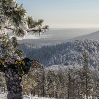 Snowboarder in the mountains/сноубордист в горах :: Dmitry Ozersky