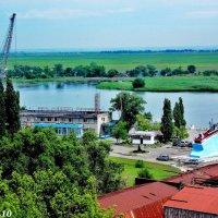 Азов. Вид с Крепостного вала на порт :: Нина Бутко