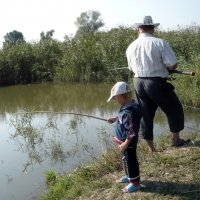 Рыбалка на пруду :: Олег Афанасьевич Сергеев