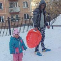 Понаехали ., отец с дочкой . :: Мила Бовкун