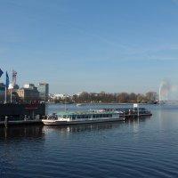 Весна на озере Альстер (серия). В ожидании пассажиров :: Nina Yudicheva
