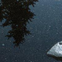 Лужа, отражение, лёд. :: Павел Кореньков