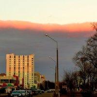 облачный фронт, подсвеченный закатом :: Александр Прокудин