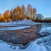 Золотой берег реки. :: Фёдор. Лашков