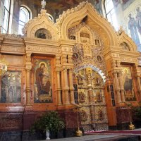 Иконостас  с восстановленными Царскими вратами (освящены 14 марта 2012 года) :: Елена Павлова (Смолова)
