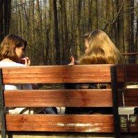 Девушки и в парке остаются девушками :: Андрей Лукьянов