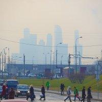 Москва, Сити, туман :: Игорь Герман