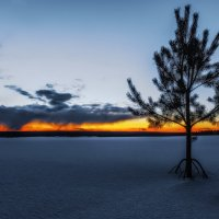 Закат над снежным полем. :: Sven Rok