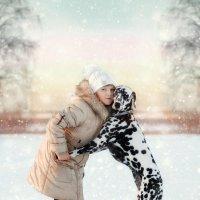 Лиза и её добродушная Герда. :: Ольга