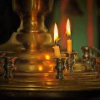 В церкви теплится свеча ...... :: Tatiana Markova