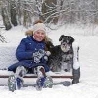 Девочка и собака :: Алексей Столбов